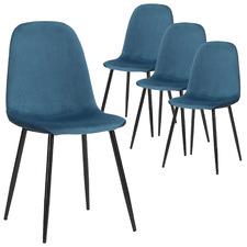 Milford Velvet Dining Chairs (Set of 4)