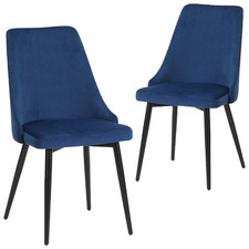 Brahms Velvet Dining Chairs (Set of 2)