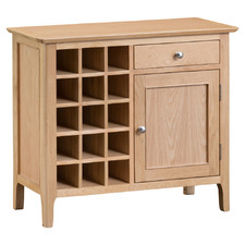 Light Timber Chester Pine Wood Wine Cabinet