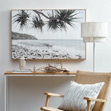 Noosa Beachscape Framed Canvas Wall Art