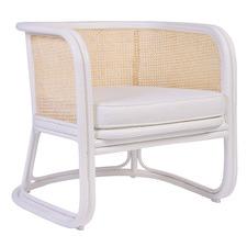 White Joplin Rattan Lounge Chair