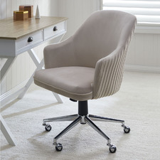 Cream Palmer Velvet Office Chair