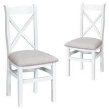 White Alby Fabric Dining Chairs (Set of 2)
