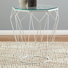 Pantheon Glass-Top Side Table
