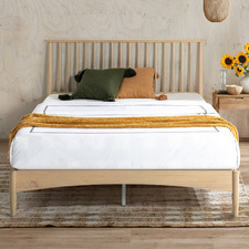 White Washed Liam Pine Wood Bed