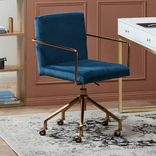 Camden Velvet Home Office Chair
