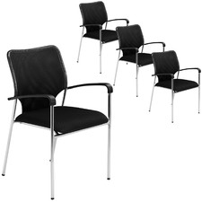 Stackable Mesh Meeting Chairs (Set of 4)