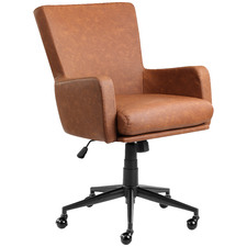 Tan Creed Faux Leather Office Chair