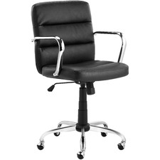 Black Wallace Faux Leather Office Chair