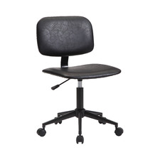 Black Bernard Faux Leather Task Chair