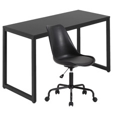 2 Piece 120cm Carnegie Office Desk & Lenny Office Chair Set