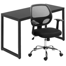 2 Piece 120cm Carnegie Office Desk & Value Student Office Chair Set