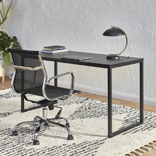 2 Piece 140cm Carnegie Desk & Eames Replica Mesh Executive Chair Set