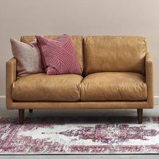 Tan Carson 2 Seater Italian Leather Sofa