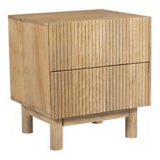 Natural Anika Mango Wood Bedside Table