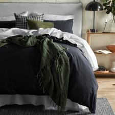 Stone Blue Organic Cotton Quilt Cover Set