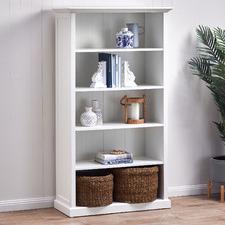 White Hamptons Large Closed Bookshelf