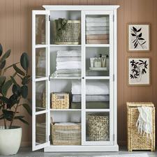 White Hamptons 2 Door Display Cabinet