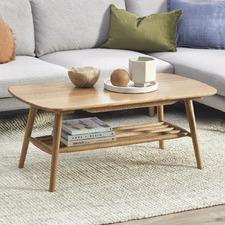 Oscar Oak Coffee Table with Shelf