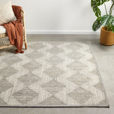 Grey Mason Hand-Tufted Wool Blend Rug