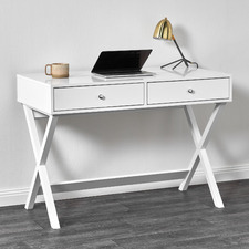 White Twin Lakes 2 Drawer Desk