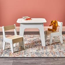 Kids' Kalan 2 Seater Storage Table & Chairs Set