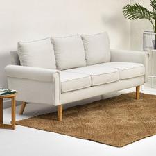 Beige Balmain 3 Seater Sofa