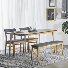 4 Seater Light Timber Tuva Dining Table Set