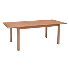 Lanai Eucalyptus Wood Outdoor Extendable Dining Table