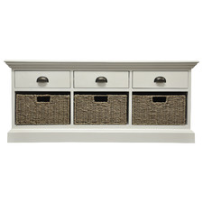 White Kavala Entryway Bench