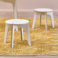 Kids' White Finn Stools (Set of 2)