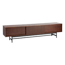 Walnut Gannon Retro Lowline TV Unit