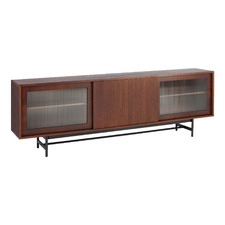 Walnut Stained Gannon Retro Sideboard