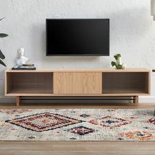 Natural Estelle Fluted Glass TV Unit