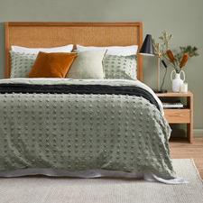 Sage Ava Cotton Quilt Cover Set