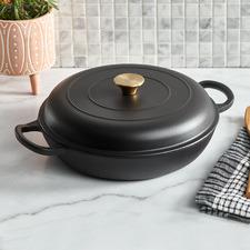 Black 3.5L Cast Iron French Pan