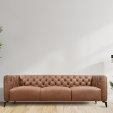 Vienna 3 Seater Cowhide Leather Sofa