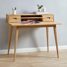 Oscar Scandinavian Style Solid Oak Desk