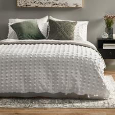White Ava Cotton Quilt Cover Set