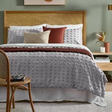 Dove Grey Ava Cotton Quilt Cover Set