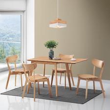 4 Seater Natural Larsen Extendable Dining Set