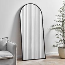 Black Arch Iron Full Length Wall Mirror