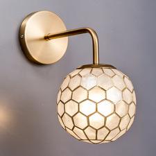 Honeycomb Capiz Shell & Steel Wall Sconce