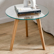 Stad Glass Top Side Table