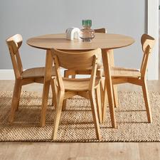 4 Seater Natural Larsen Round Dining Set