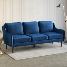 Navy Harrison 3 Seater Velvet Sofa