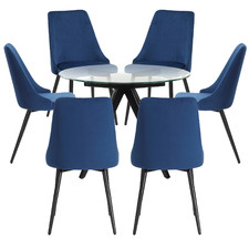 6 Seater Anders Dining Table & Brahms Dining Chair Set