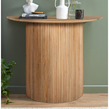 Natural Anika Curved Mango Wood Console Table