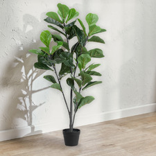 120cm Potted Faux Fiddle Leaf Fig Tree