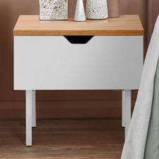 Aiken 1 Drawer Bedside Table